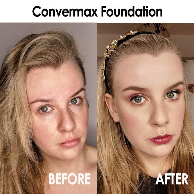 FOCALLURE Convermax Full Coverage Foundation Oil Control Face Makeup 20 Colors Matte Liquid Base Foundation 2