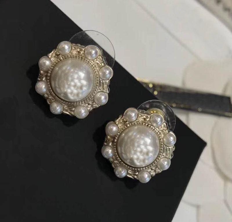 Brand Fashion Pearl Jewelry Gold Color Pearl Earring/tassel Earrings Two Styles Design Wedding Party Earrings