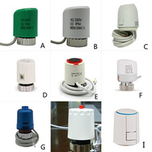 24V 230V aucune tête de valve dactionneur thermique électrique de NC pour le radiateur de chauffage par le sol de collecteur de thermostat normalement ouvert fermé