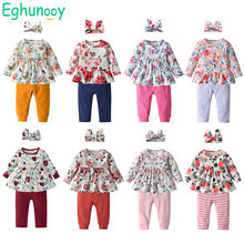 Outfits Pants Newborn Clothing Spring Baby-Girl Autumn Headband Toddler Infant Floral