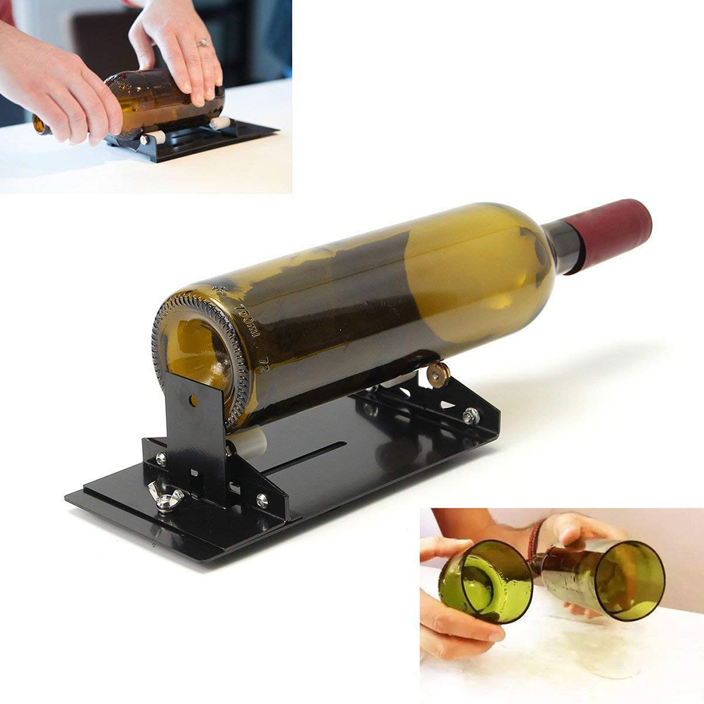 Stainless Steel Glass Bottle Cutter Cutting Tool Wine Beer Glass Sculptures Cutter For DIY Glass Cutting Machine Bottle Holder