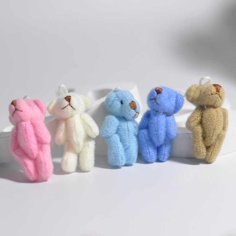 1 sztuk Kawaii małe niedźwiedzie miękie pluszowe zabawki perła aksamitne lalki prezenty mały miś pluszowy