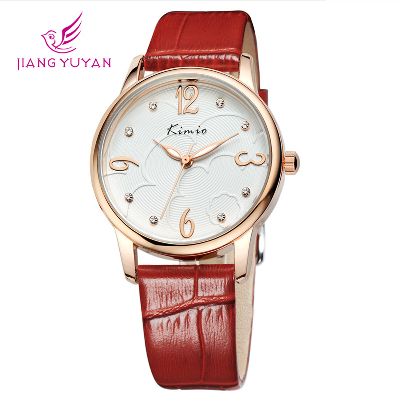 2020 New Brand Women's  Water Diamond Watch Fashion Leisure Leather Watchband Simple Quartz Women Watch Gift Relogio Feminino