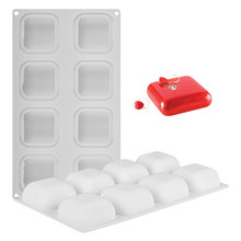 1 Pcs 8 Cavity Square Shaped Silicone Cake Mold For Chocolate Mousse Dessert Baking Mould Ice-Creams Bread Decorating Tools