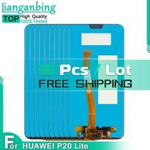 10 sztuk 2280*1080 dla HUAWEI P20 Lite ANE-LX1 ANE-LX3 Nova 3E 5 84 cal wyświetlacz LCD ekran dotykowy zgromadzenie dla HUAWEI P20 Lite LCD tanie tanio lianganbing CN (pochodzenie) Pojemnościowy ekran 1920x1080 3 OLED For HUAWEI P20 Lite LCD LCD i ekran dotykowy Digitizer