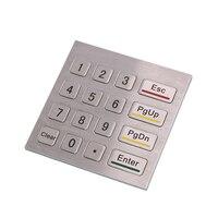 16 مفاتيح كشك معدني الفولاذ المقاوم للصدأ الصناعية 4x4 مقاوم للماء usb لوحة رقمية موزع وقود