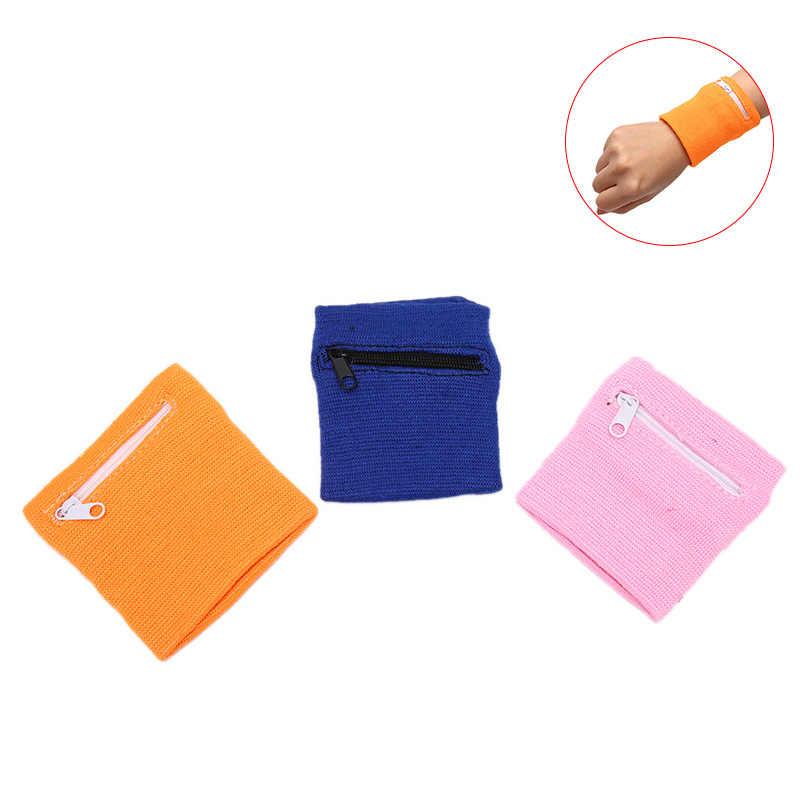 บาสเกตบอลแบดมินตันสายรัดข้อมือซิปกระเป๋าสตางค์กระเป๋าแขนArm Band BagสำหรับMP3คีย์การ์ดเก็บกระเป๋า