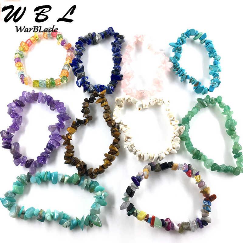 を WBL ナチュラルカラフルな宝石の石チップビーズナゲットシェルクリスタルコーラルクォーツ女性のための