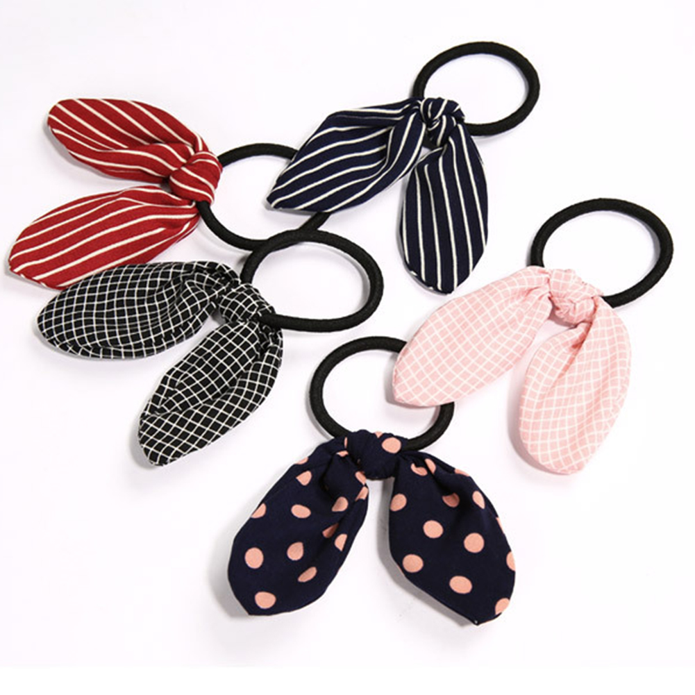 Cute Rabbit Ears Tied Rope Hair Accessories Female Rubber Band Elastic Hair Bands Korean Hair Ring Headwear Accessories