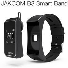JAKCOM B3 Smart Watch Best gift with t500 smart watch oxygenmeter stratos 2 4 strap women deporte solar nfc no 1 s9 nfc smart watch with leather strap brown