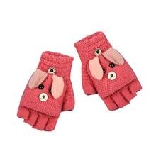 Классические Теплые экранные перчатки женские толстые вязаные перчатки с рисунком снежинок зимние рождественские варежки для женщин
