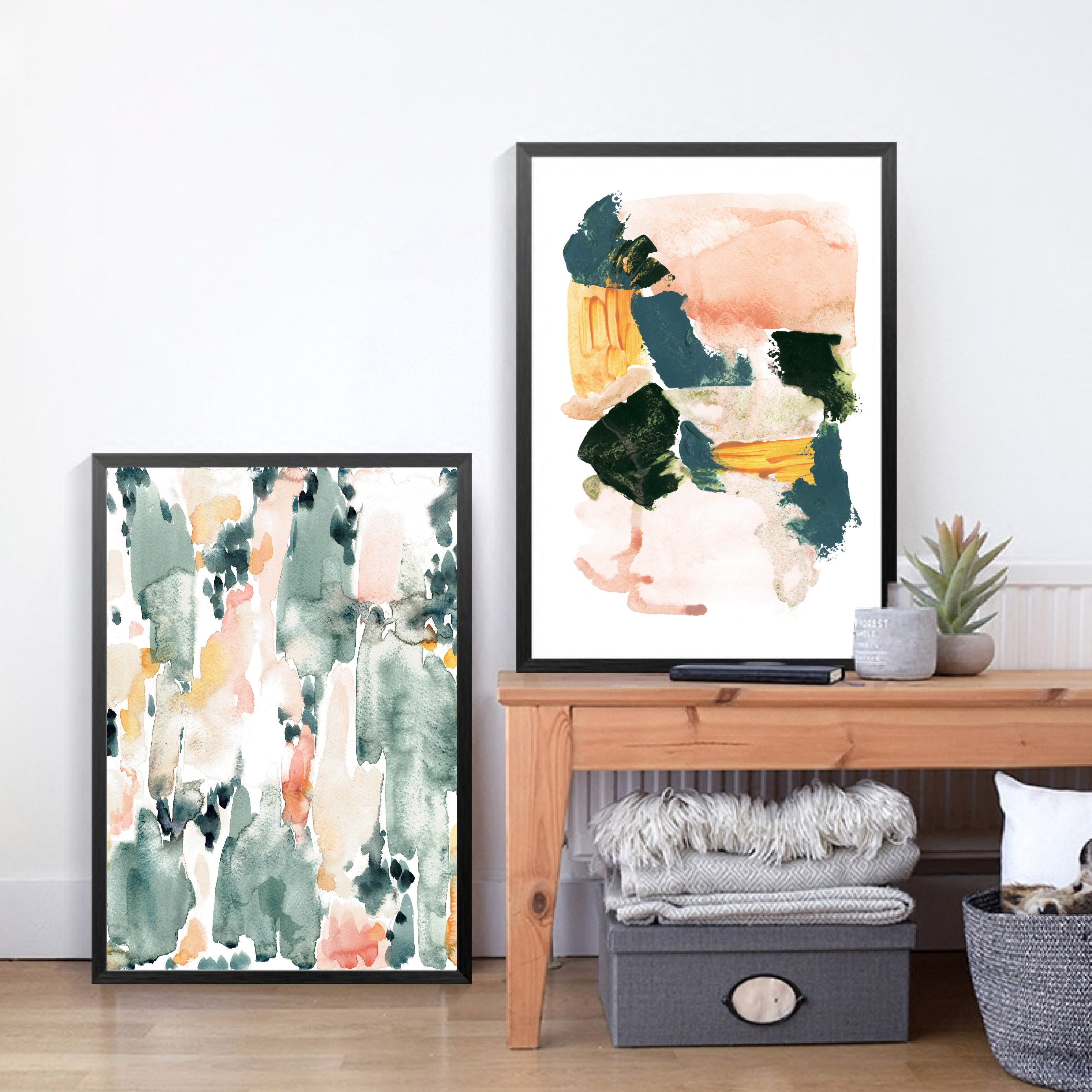 Pastel Abstract Art Canvas Posters