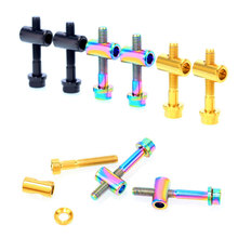 цена на 2Pcs M5*30/40MM Bike Seat Post Fixed Bolts TC4 Titanium Alloy Seatpost Fixing Bolt Bicycle Screws Bike Parts