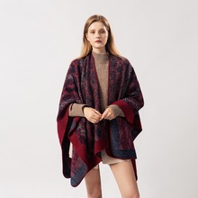 2019 ladys scarf is versatile in autumn and winter with geometric capes fashionable animal patterns Europe America