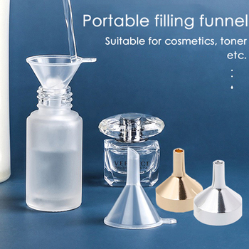 Aluminum Funnels Small Mouth Funnels Mini Sand Art Funnel For Filling Lab Bottles Salt Pepper Herbs Oils Tools image