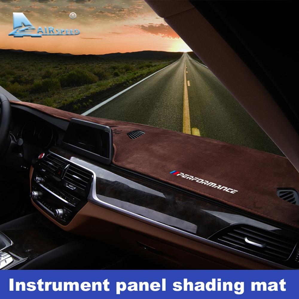 Flanela antypoślizgowe anty UV mata pokrywa deski rozdzielczej Pad Dashmat dywan dla BMW G30 G31 G01 F15 F85 F16 G05 F10 F07 F11 F48 akcesoria