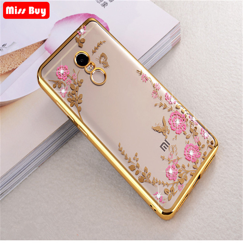 Bling Diamond Flower Phone case For Xiao <font><b>mi</b></font> 9 <font><b>8</b></font> SE <font><b>MI</b></font> F1 Max 3 A1 A2 <font><b>Lite</b></font> Redmi 7 Note 6 5 Pro 5a 4 4a 4x 6A 5 Plus Soft Cover image