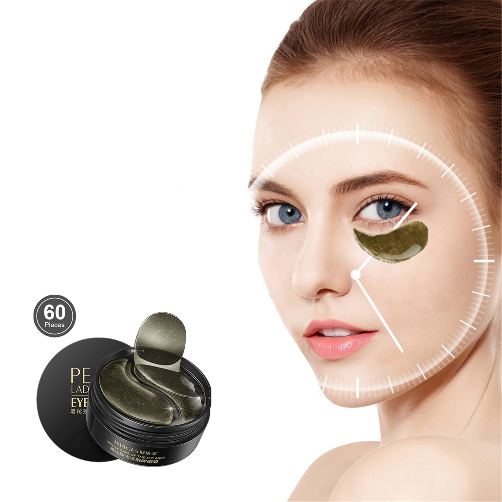 Silk Sleeping Eye Mask Ageless Eyelid Patch Black Pearl Anti Wrinkle Moisture Under Eye Puffy Remover Fine Lines Eye Patch 60Pc
