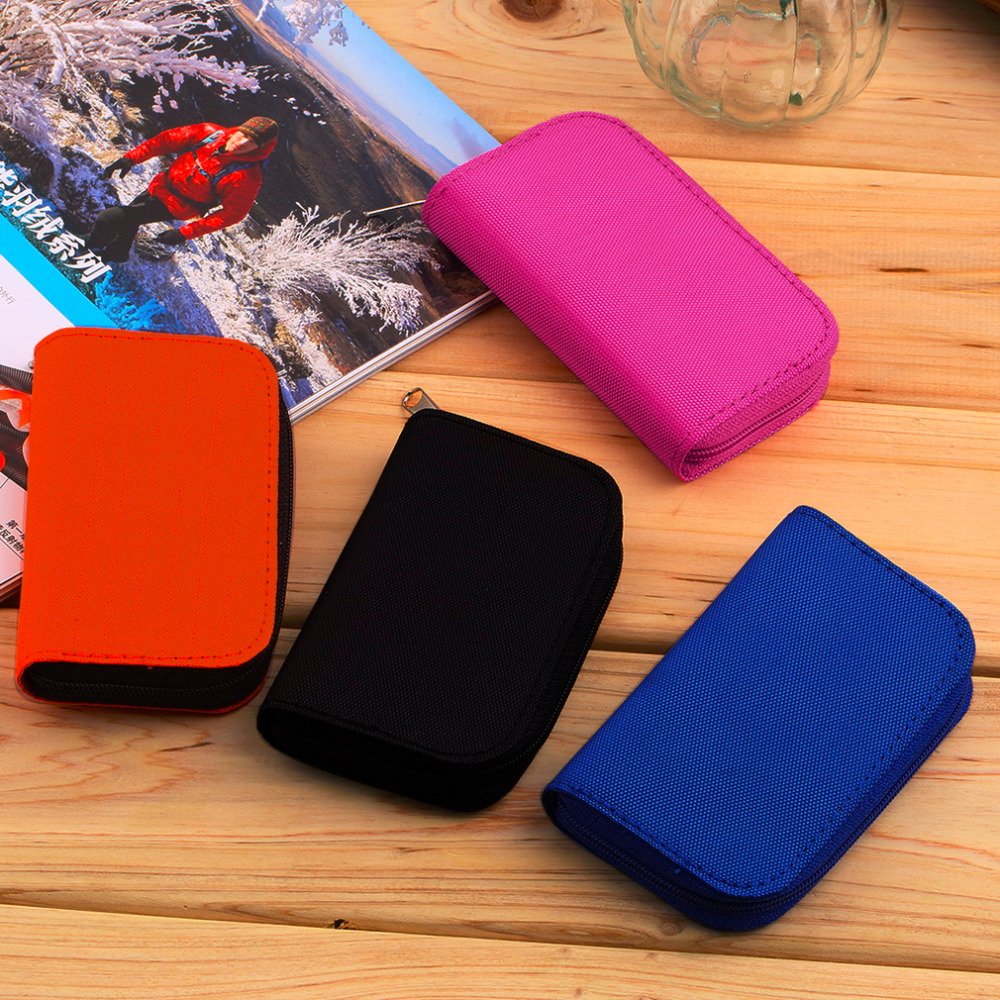 SD SDHC MMC CF For Micro SD Memory Card Storage Carrying Pouch bag Box Case Holder Protector Wallet Wholesale Store 6