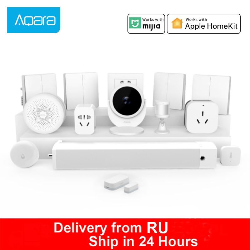 Aqara шлюз Aqara дверной датчик движения настенный беспроводной переключатель Mijia умная камера датчик температуры и влажности домашние комплек...