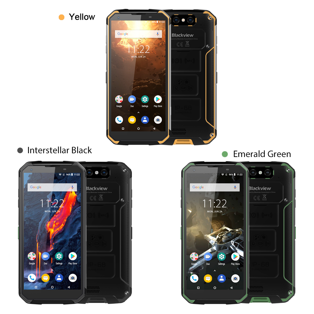 Blackview BV9500 Plus Smartphone Helio P70 Octa Core Android 9.0 Mobile Phone 10000mAh IP68 Waterproof  5.7inch FHD 4GB + 64GB