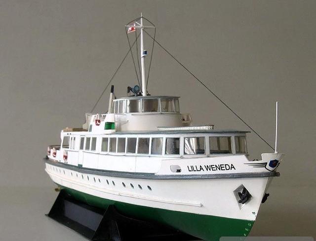 1:100 40cm Poland Ferry Ship Fine DIY 3D Paper Card Model Building Sets Construction Toys Educational Toys Military Model 3