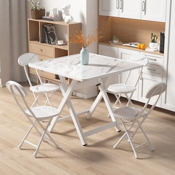 2 krzesła składany stół jadalnia stół do jadalni na zewnątrz przenośny stoisko składany stół stół i krzesło wynajem mały kwadratowy stół tanie i dobre opinie BOUSSAC CN (pochodzenie) Meble do jadalni Jadalnia zestaw meble do domu Wood - based panel square 4 people Simple and modern