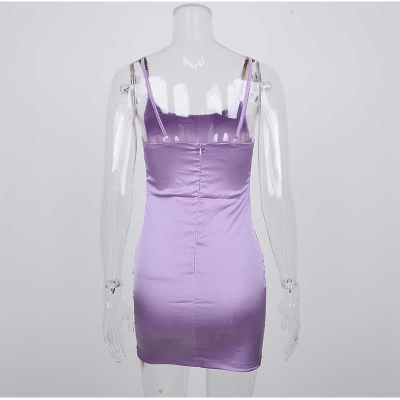 Parthea Лавандовое Атласное Платье женское сексуальное с вырезами с открытой спиной облегающее платье розовые вечерние Клубные платья Мини платье черное vestidos robe Femme