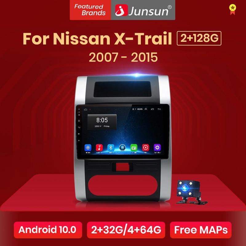 Junsun radio automóvil Control de voz AI 2+32GB Android 10 para For Nissan X-Trail 2 T31 XTrail 2007-2015 , Radio, Reproductor de video multimedia, Navegación GPS, 2 din Radio de pantalla Junsun compatible con RDS