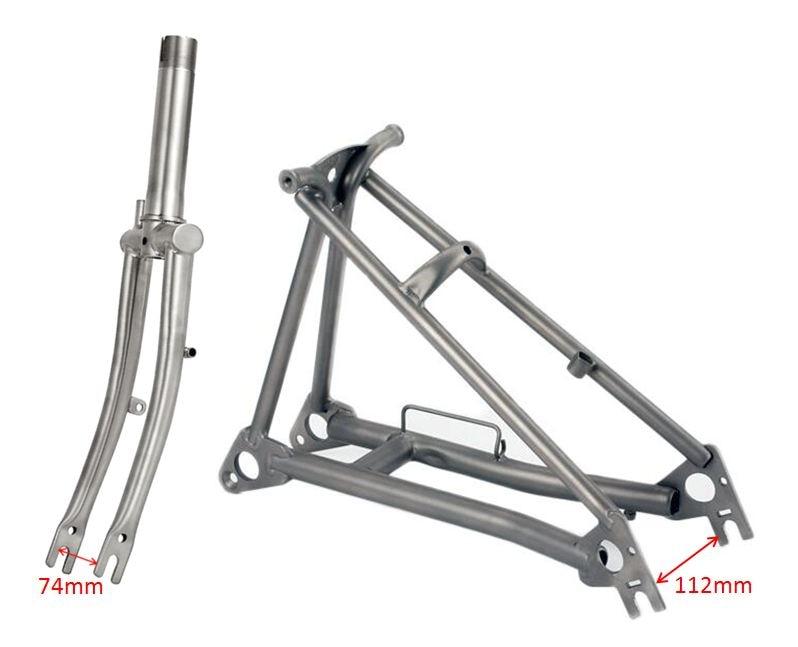 Garfo de titânio para bicicleta brompton, garfo de titânio para bicicleta 1 e 1/8