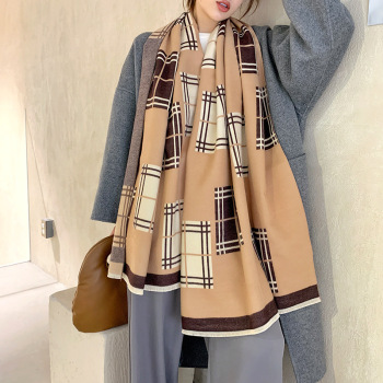 Cashmere Winter Scarf Women 2020 Brand Plaid Shawl Lady Wraps Thick Warm Pashmina Blanket Foulard Female Bufanda Scarves woman winter wool scarf blanket plaid oversize wraps with tassel ladies soft warm pashmina foulard femme big blanket scarves