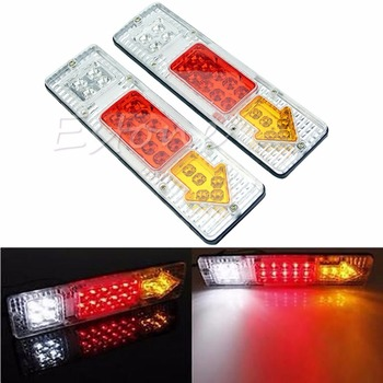 цена на Car Styling 2X 12V LED TRUCK TRAILER CARAVAN VAN REAR TAIL STOP REVERSE LIGHT INDICATOR LAMP