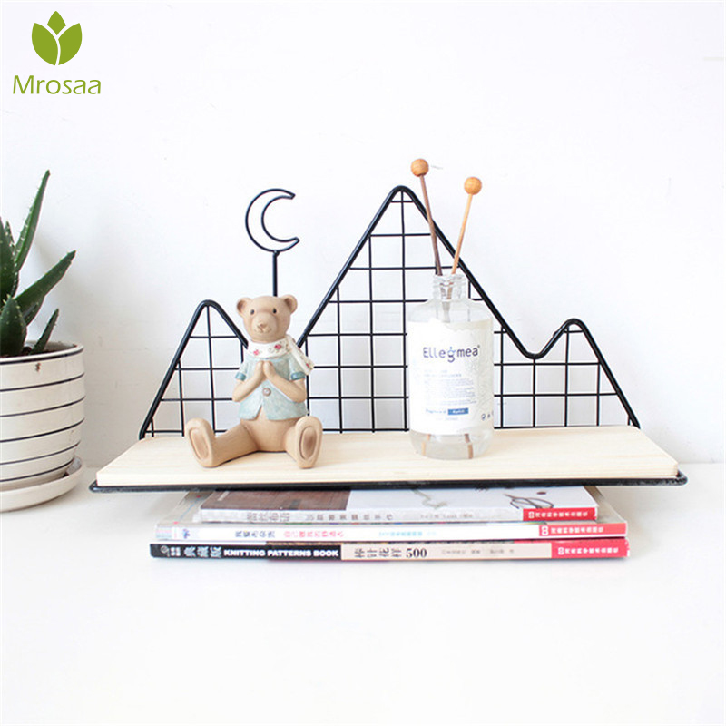 Hot Nordic Style Metal Decorative Shelf Cactus Mountain Storage Holder Rack Shelves Home Wall Decor Potted Ornament Holder Rack
