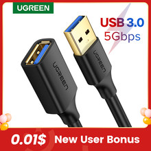 Ugreen USB Verlängerung Kabel USB 3,0 Kabel für Smart-TV PS4 Xbox Eine SSD USB 3,0 2,0 USB Extender kabel Mini USB Verlängerung Kabel