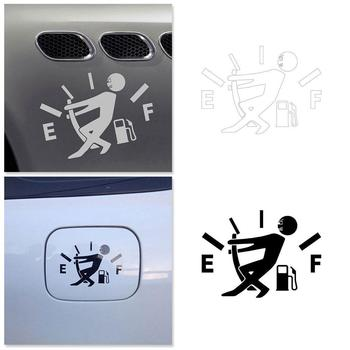 1 Pc Funny Car Sticker Pull Fuel Tank Pointer To Full Reflective Car Sticker Decal Wholesale Vinyl V0T0 image