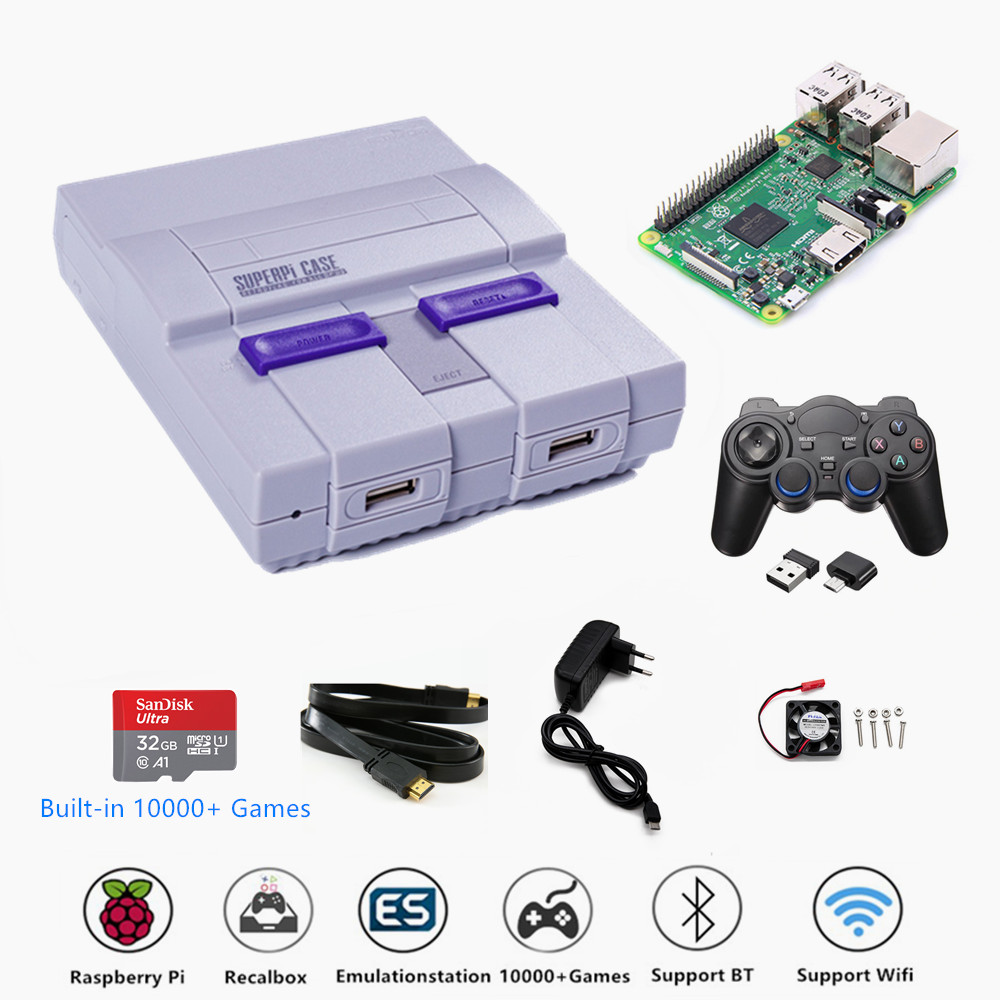 Raspberry Pi 3B Video Game Console Retroflag SUPERPi-U Support HDMI TV Gaming Console with Game Controller & 10000+ Games image