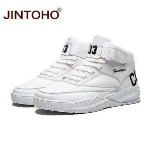 Image 2 - JINTOHO Men Winter Boots Fashion White Leather Sneakers Casual Mens Ankle Boots Male Leather Boots Winter Men Shoes Men Booties