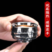 Чашка из серебра 999 пробы с узором камня чашка lohan ручной