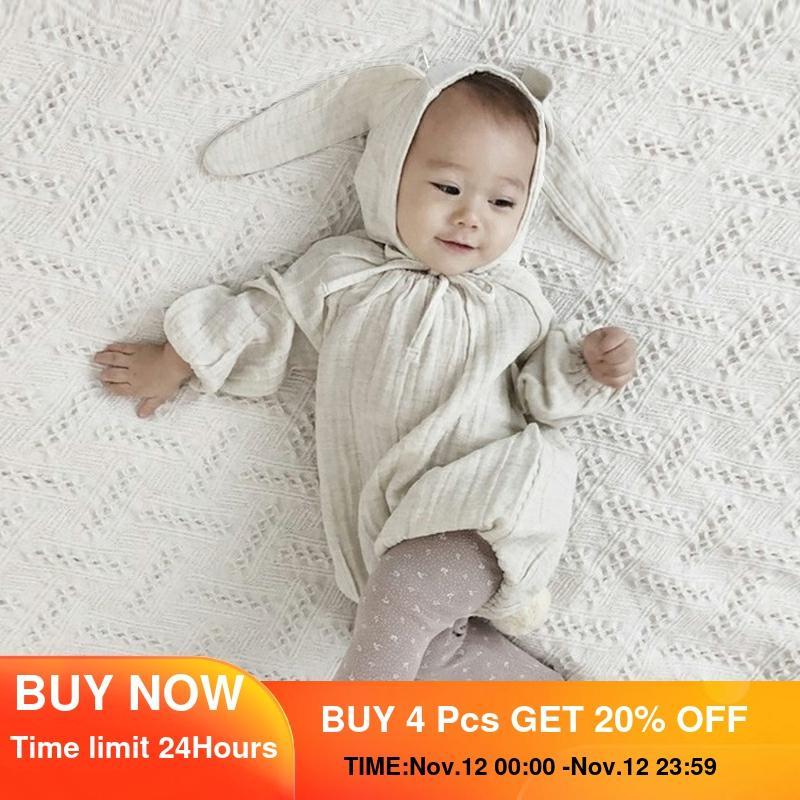 Комбинезоны для новорожденных, весенние белые с длинным рукавом, одежда для маленьких девочек и мальчиков, корейский дизайн, хлопковая детская одежда, костюмы для фотосъемки|Боди для малышек| | АлиЭкспресс