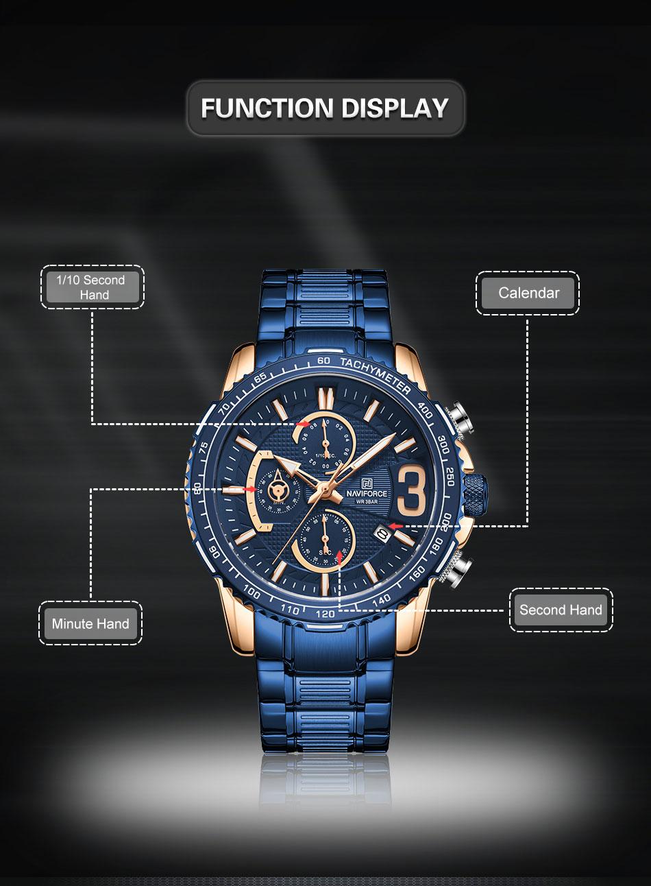 Naviforce NF 8017 Men's Watch 7