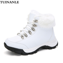 TUINANLE Winter Boots Women Warm Winter Snow Boots Wanterproof Ankle Booties Woman White Shoes for Women Platform Boots Gothic