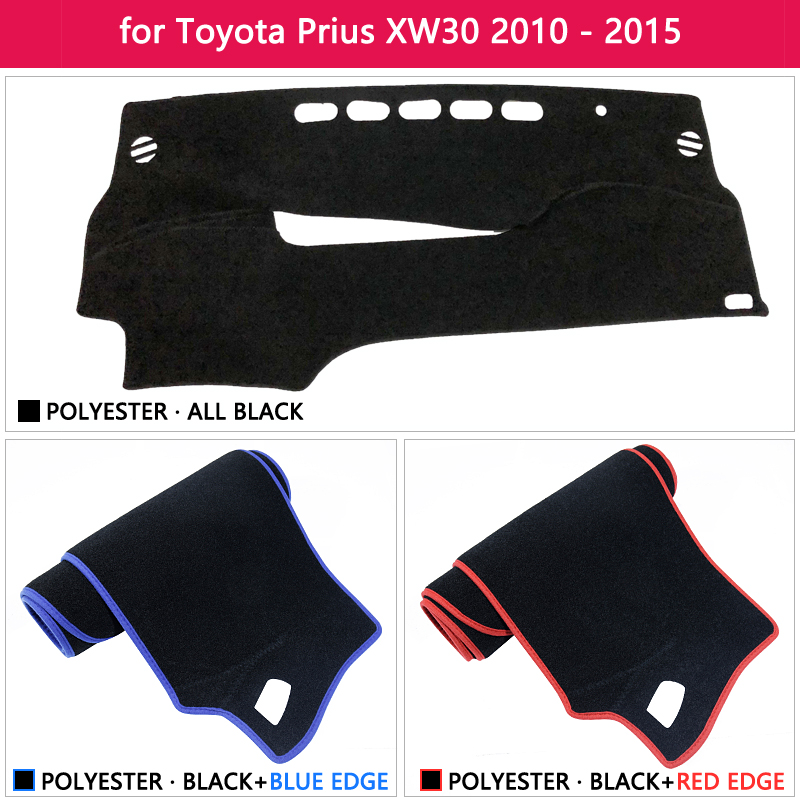 lowest price Dashboard Cover Protective Pad for Toyota Prius 30 2010 2015 XW30 Car Accessories Dash Board Sunshade Carpet 2011 2012 2013 2014
