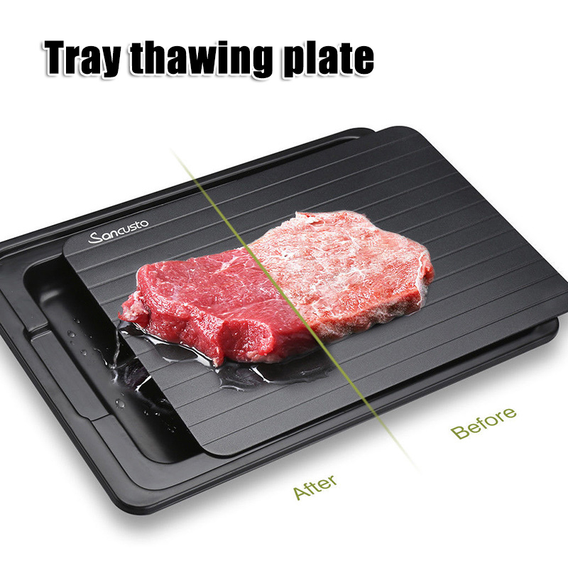 Fast Defrosting Tray With Cleaner Frozen Meat Defrost Food Thawing Plate Board Kitchen Tool L9 #2