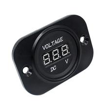 Светодиодный измеритель напряжения, цифровой дисплей, вольтметр, прибор, тестер для мотоцикла, автомобиля, грузовика-зеленый, 60 мм x 43 мм x 24 мм CNIM Hot