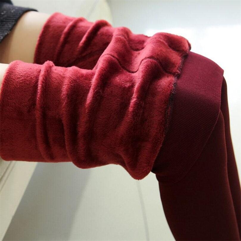 YRRETY Winter Warm Velvet Thick Skinny Pants Women Plus Size High Waist Leggings Trousers Female Clothing Pencil Pants Femme 69