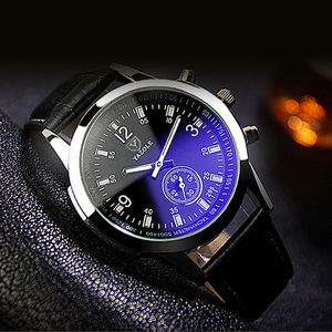 Image 3 - yazole Quartz Men Watch Male Leather Strap Analog Business Casual Thin Luminous Hands Waterproof Wrist Watch for Men Wristwatch