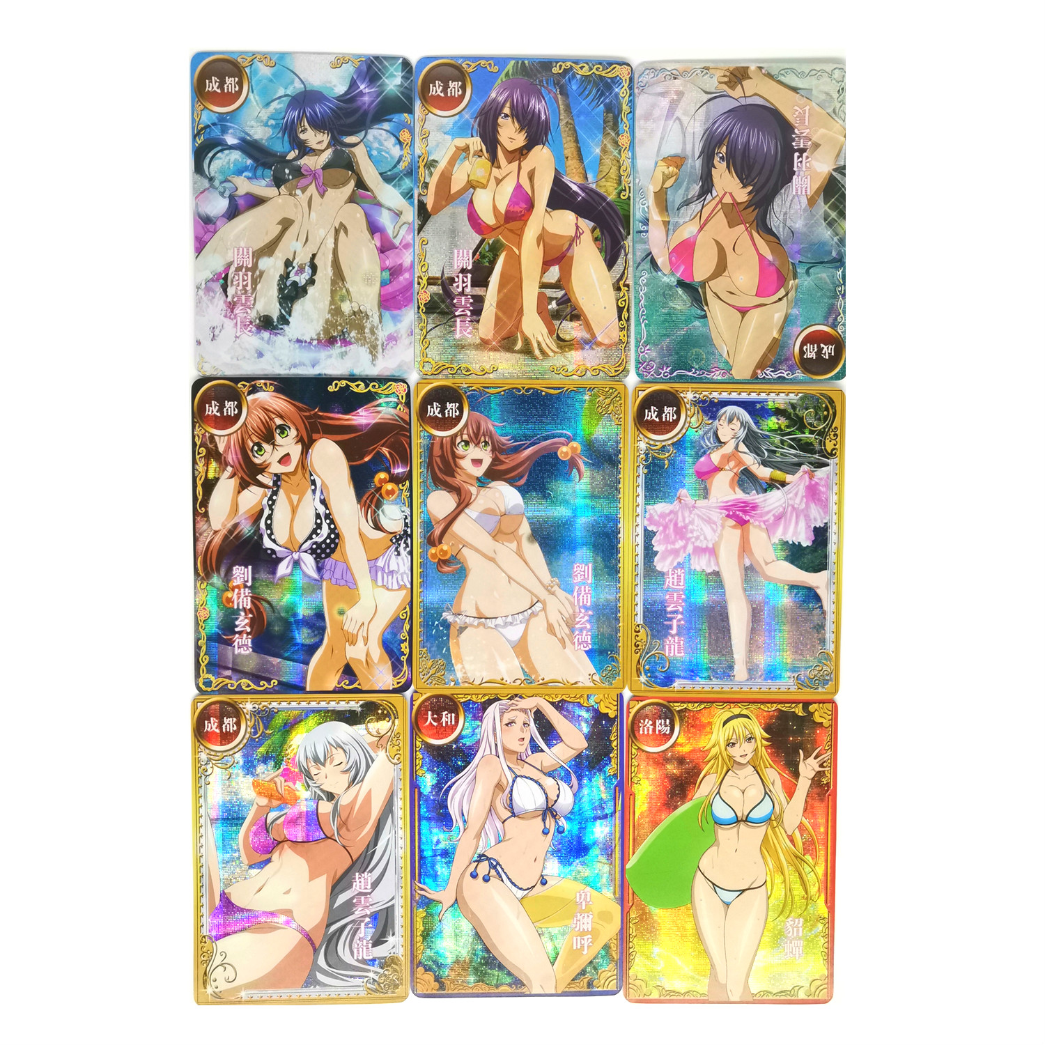 18pcs/set Ikkitousen Toys Hobbies Hobby Collectibles Game Collection Anime Cards