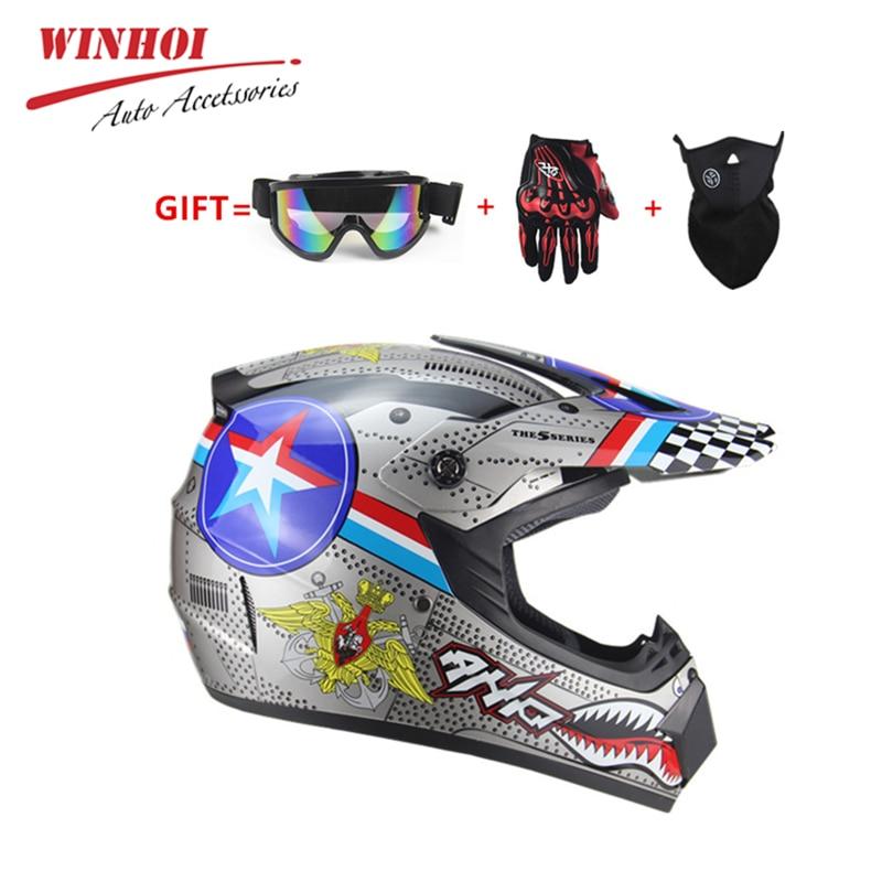Motorcycle Helmet Full Face Off Road ABS DH Motorbike AM Mountain Bike TV Dirt Bike Riding Helmet Unisex Motocross Helmet