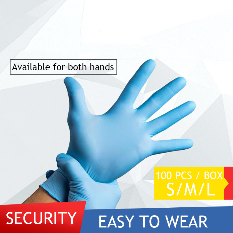 100 Pcs Blue Disposable Nitrile Gloves Oil-resistant Durable Household Gloves Universal For Left And Right Hand Unisex