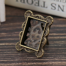 Toy House-Accessory Dollhouse Miniature Photo-Doll 1:12 Retro-Picture-Frame Metal High-Quality
